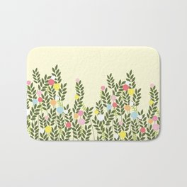 graphic flowers Bath Mat