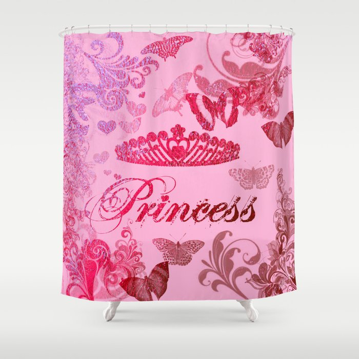 Flutterby Princess Shower Curtain