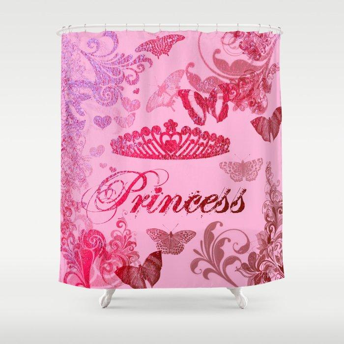 Flutterby Princess Shower Curtain