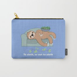 To Sloth or Not to Sloth Sleeping with Vine Leaves Carry-All Pouch