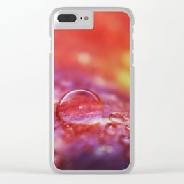 Colorful Apple Macro 2 Clear iPhone Case
