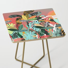 Sunset in the jungle Side Table