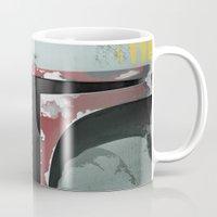 boba fett Mugs featuring boba fett by designoMatt