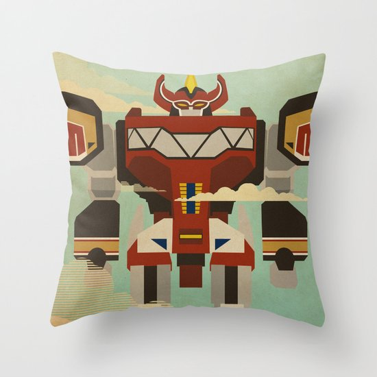 The Mega of the Zords Throw Pillow