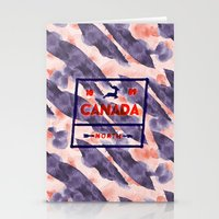canada Stationery Cards featuring CANADA by Tania Orozco