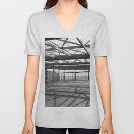 Metal constructions barriers with protective cells Unisex V-Neck