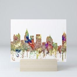 Augusta Georgia Skyline SG - Faded Glory Mini Art Print
