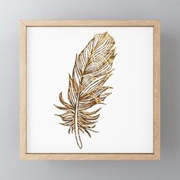 Golden Feather Framed Mini Art Print