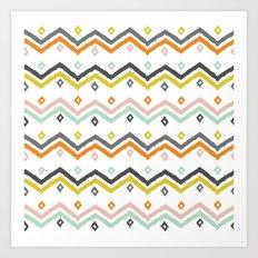 Blanket Stripe Art Print