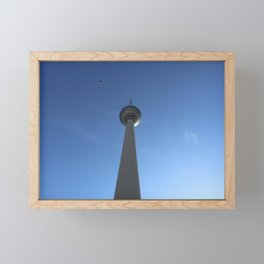 Television Tower Berlin with Bird Framed Mini Art Print