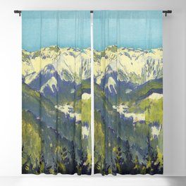 Koloman Moser Landscape of Semmering Blackout Curtain