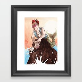 Rebel Ariel Framed Art Print
