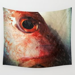 Fish Face Wall Tapestry