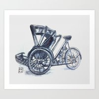 rickshaw bike Art Print