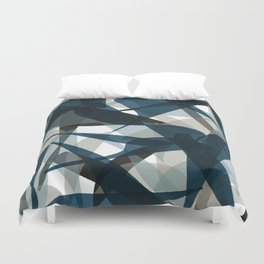Abstract Whale Monotone Duvet Cover