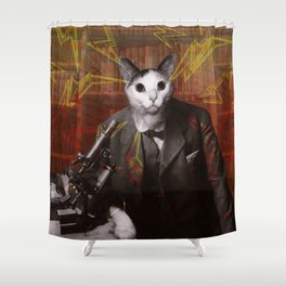 Science Cat Shower Curtain