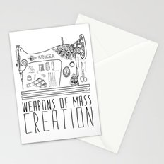 Weapons Of Mass Creation - Sewing Stationery Cards