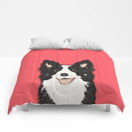 Montana - Border Collie gifts for dog people and dog lovers perfect gifts for a dog person.  Comforters