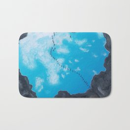 """Outside Looking In"" - 44 Bird Series Bath Mat"