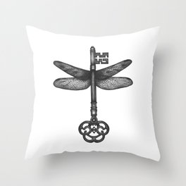 Dragonfly Key Throw Pillow