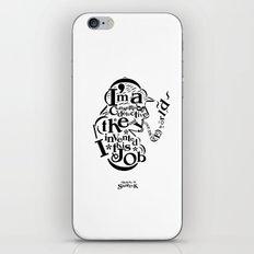 Sherlock Goes Typography (Holmes, Watson) iPhone & iPod Skin