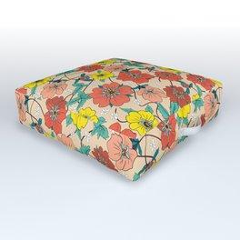 Potentillas and Daisies Outdoor Floor Cushion