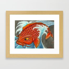 Koi Series, TRADITION! TRADITION! Framed Art Print