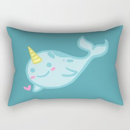 Nelly the Narwhal! Rectangular Pillow