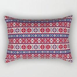 Grandma's pattern #9. Flags Rectangular Pillow
