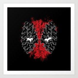 Dead Hero Mask Art Print
