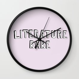 Literature Babe Wall Clock
