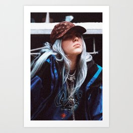 Billie Eilish with a LV hat Art Print