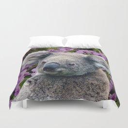 Koala and Coocktown Orchids Duvet Cover