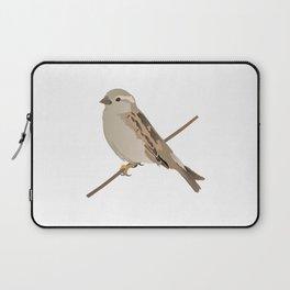 House Sparrow Bird on a Twig Laptop Sleeve
