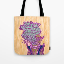 Celebrate Differences Audre Lorde Quote Tote Bag