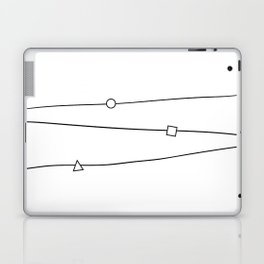Lines and geometric shapes, simple Laptop & iPad Skin