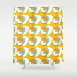 Sunday Futurist (orange) Shower Curtain