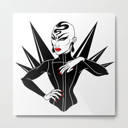 Sasha Velour, RuPaul's Drag Race Queen Metal Print