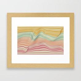 Colored Landscape Framed Art Print