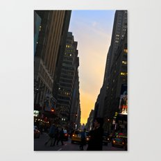 Urban Sunset Canvas Print