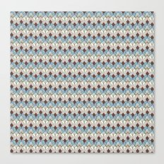 Retro Geometry Diamond Canvas Print