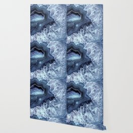 Steely Blue Quartz Crystal Wallpaper