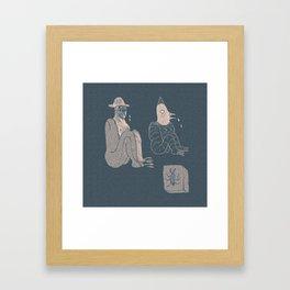 Plague Mask Framed Art Print