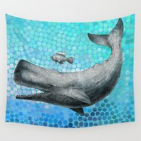 eric fan Wall Tapestries featuring New Friends 3 by Eric Fan and Garima Dhawan by Eric Fan