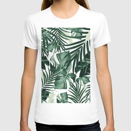 Tropical Jungle Leaves Pattern #4 #tropical #decor #art #society6 T-shirt