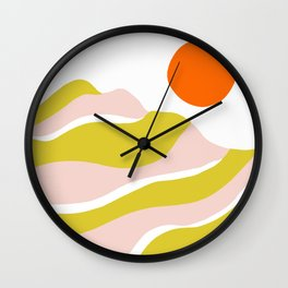 sierra mountain sunset Wall Clock