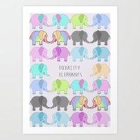 Equality Elephants Art Print