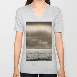 Clouds Over the Pier Unisex V-Neck