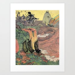 Mu Guai and the Tiger's Eye, Panel 8 Art Print