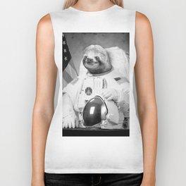 Sloth Astronaut Biker Tank